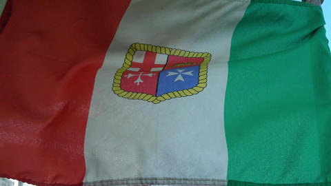Italian Flag Waving In The Wind stock footage