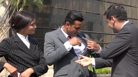 Business People Exchanging Cards Footage