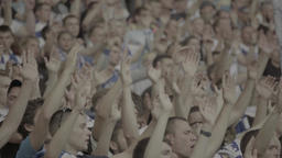 People Clap At The Stadium (close-up) stock footage