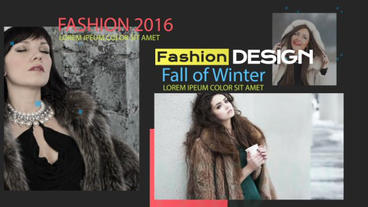 Fashion Slideshow stock footage