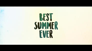 Uplifting Summer Slideshow stock footage