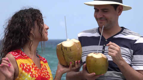 People Having Fun On Tropical Vacation stock footage