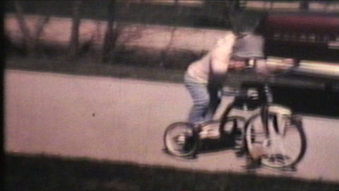 Kids Riding Bikes 1970 Vintage 8mm film Footage