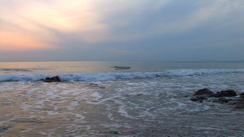 Tide At Sunset stock footage