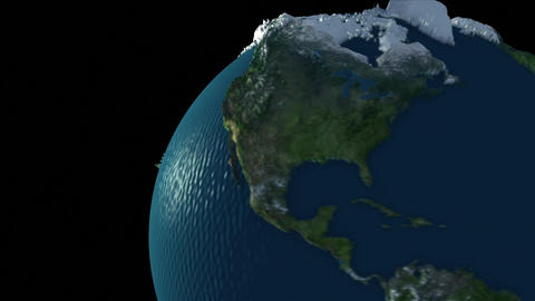 Rotating Earth Globe stock footage