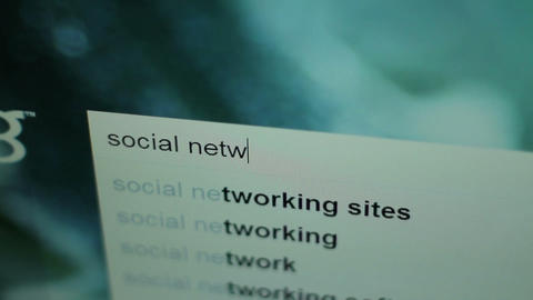 20101221 Social Network Search 01 stock footage