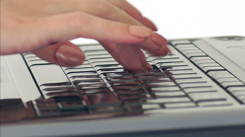 Typing on Keyboard Footage