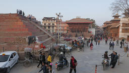 Crowds On Durbar Square After Earthquake,Kathmandu,Nepal stock footage