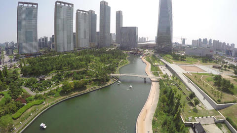 Incheon Songdo Central Park 1 By WithGopro stock footage