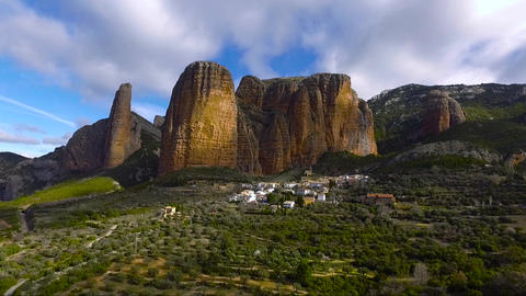 Riglos Mountains stock footage