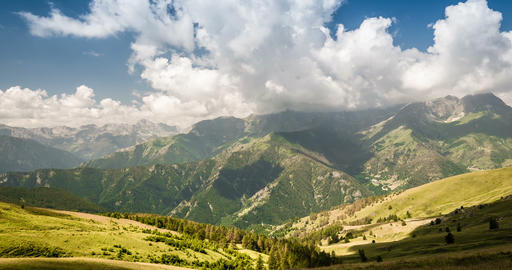 4K, Time Lapse, Clouds Over Italian Mountain Range stock footage