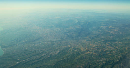 Aerial View Of Planet Earth As Seen From 40.000 Feet Altitude stock footage