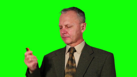 Chroma Key Footage Of Businessman stock footage
