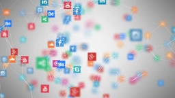 Social Network stock footage
