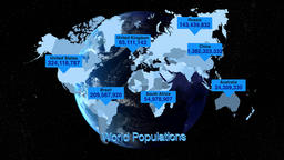 Global population infographic Footage