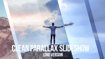 Clean Parallax Slideshow stock footage