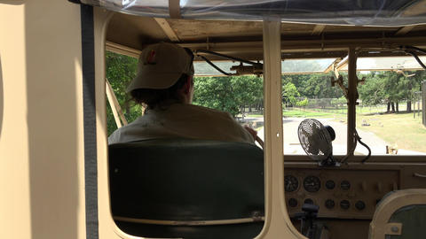 Driver Of Safari Truck stock footage