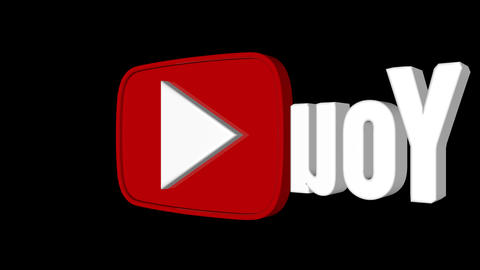 Youtube Logo Spin Looped Background stock footage