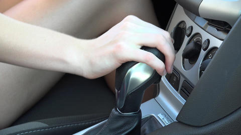 Shift Lever of Automobile Footage
