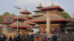 Temples and pigeons on Durbar square,Kathmandu,Nepal Footage