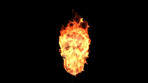 fire skull Animation