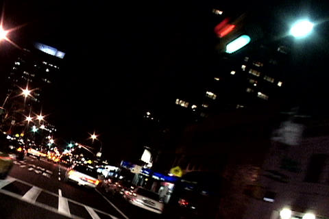 New York Traffic At Night stock footage
