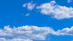 Clouds moving in blue sky. Cloudscape time-lapse 4k video nature background Footage