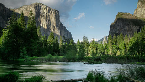 Yosemite Valley River Time Lapse Footage