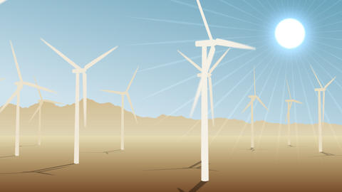 Loopable Wind Power Loopable CG動画素材