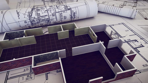 The part of architectural project Animation