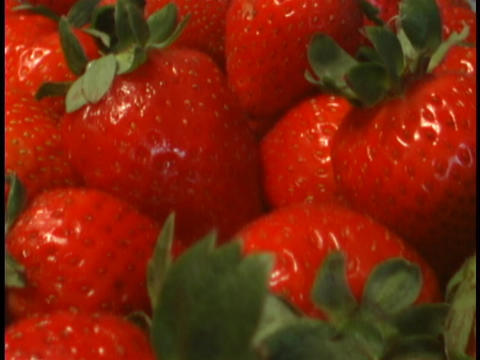 Ripe Strawberries Are Delicious stock footage