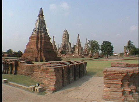 Tourists visit the temples of Ayutthaya, Thailand Footage