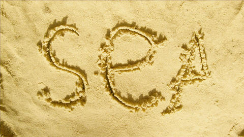 Animation On Sand - Stop Motion - Background - Greeting Card Animation