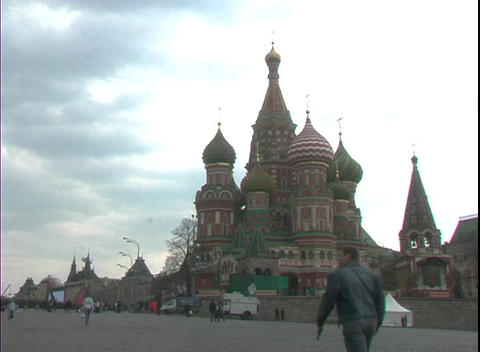 St. Basil's Basilica Occupies Red Square In Moscow, Russia stock footage