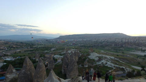 Hot Air Balloon at Cappadocia Footage