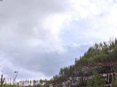 Clouds over the forest. Russia. HDR, TimeLapse Footage