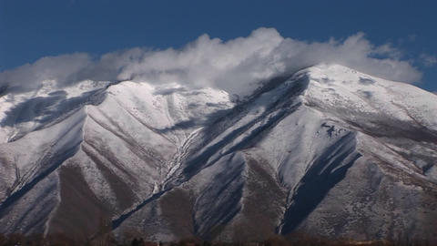 Snow Covers The Wasatch Mountain Range Near Salt Lake City, Utah stock footage