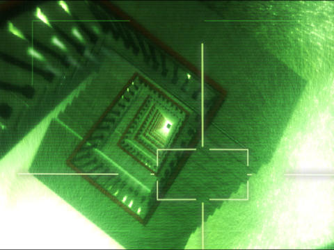 3D Generated Staircase And Elevator stock footage