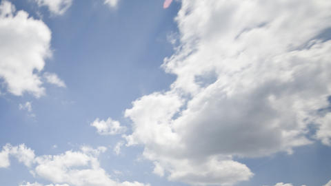 Clouds On A Sunny Day: HD Timelapse stock footage