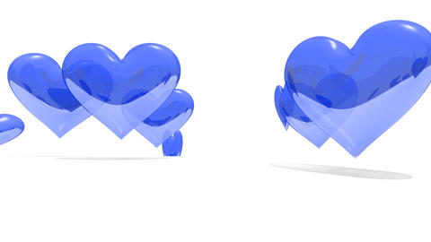 Blue Hearts Rise stock footage