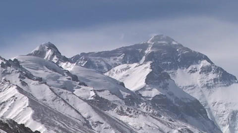 Time Lapse Of The North Face Massif - Mt. Everest stock footage