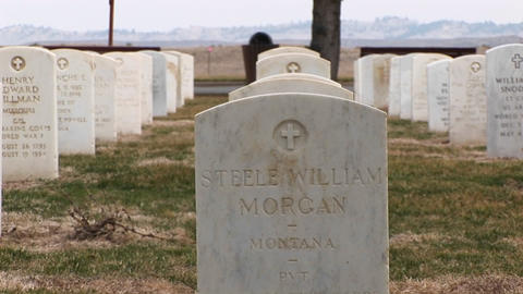 White Marble Headstones Show Men And Women From All Parts Of The Country Are Buried In This Military stock footage