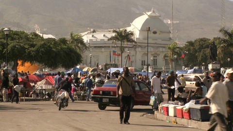 Chaos And Damage On The Streets Of Port Au Prince  stock footage