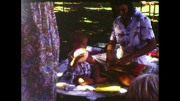 One-year-old Girl Opening Presents at Her 1st Birthday Party (1983 8mm vintage home video) Footage