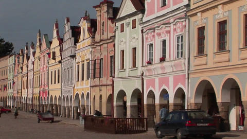 The Charming Town Of Mikulov In The Czech Republic Has Elegant And Beautiful Facades stock footage