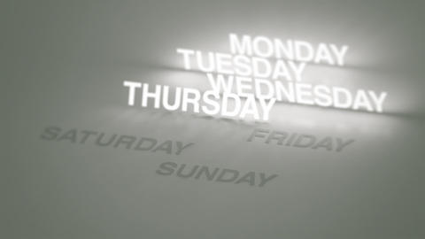 Days, Months Glowing Timeline stock footage