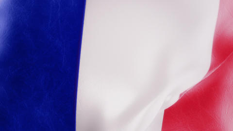 Slow Motion French Flag Intro stock footage