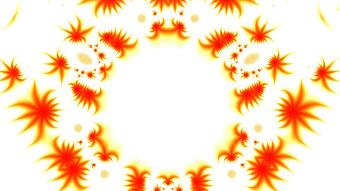 Orange Patterns On A White Background stock footage