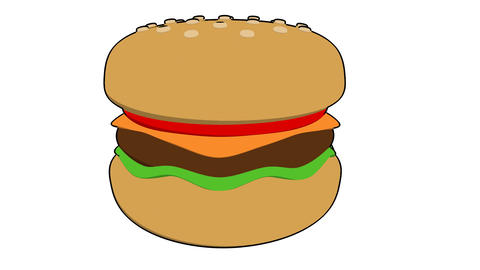 burger toon Animation