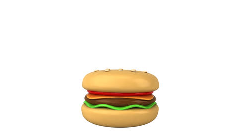 happy burger HD Animation